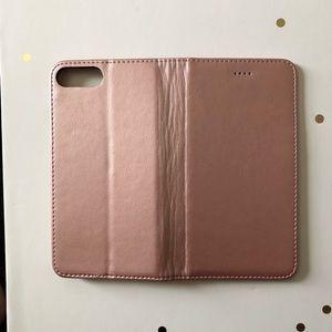 Rose Gold iPhone 8 Plus Folio Case
